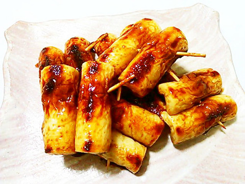 Kabayaki-Style Sweet and Spicy Grilled Chikuwa