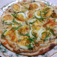 Shiso and Sweet Onion Pizza