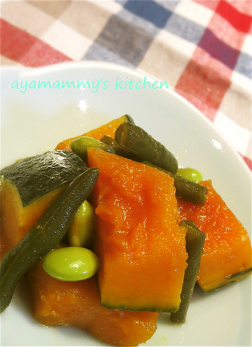 Simmered Beans and Kabocha