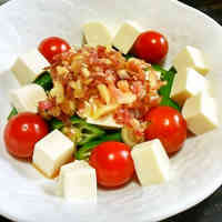 Okra and Tomato Tofu Salad