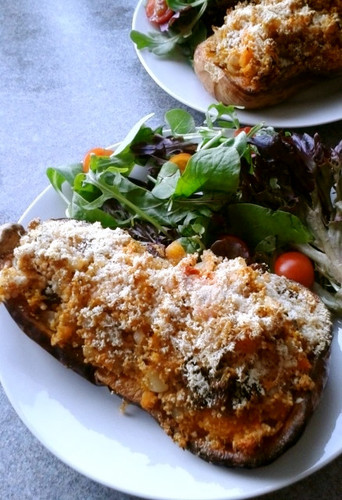 Couscous Stuffed Butternut Squash