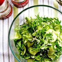 Zucchini and Rocket Carpaccio Salad