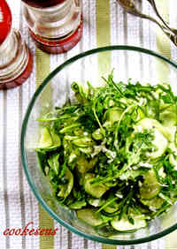 Zucchini and Rocket Carpaccio Salad