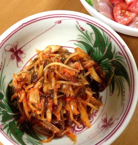 Papaya and Mozuku Seaweed Kimchi