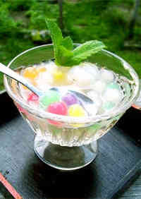 Seven-Colored Tapioca Pearls and Lychee Compote