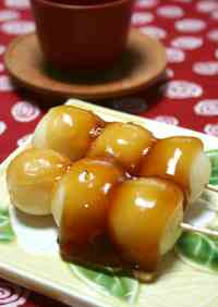 Healthy Mitarashi Dango with Tofu