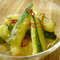 Cucumber Tossed with Ginger Miso in 5 Minutes
