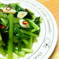 Komatsuna Greens Stir-Fried with Garlic and Salt