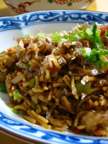 Easy Sobameshi - Yakisoba Noodles and Rice
