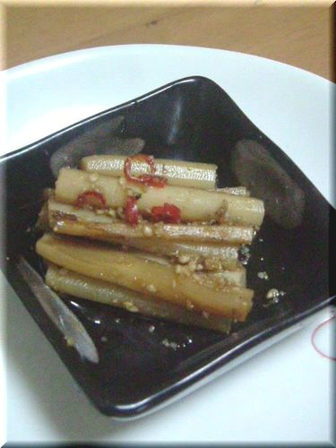 Simmered Burdock Root with Sesame Seeds