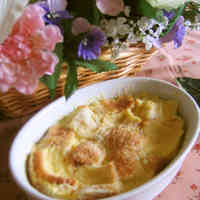 Microwave-Baked Bread Pudding