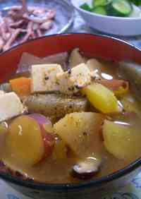 Pork Soup Style Substantial Miso Soup with Sweet Potatoes