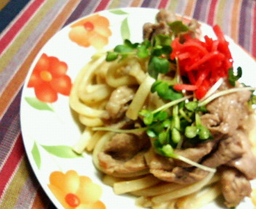 Hearty & Quick Fried Udon with Ginger Pork