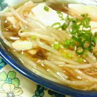 Silken Tofu with Thickened Bean Sprout Sauce