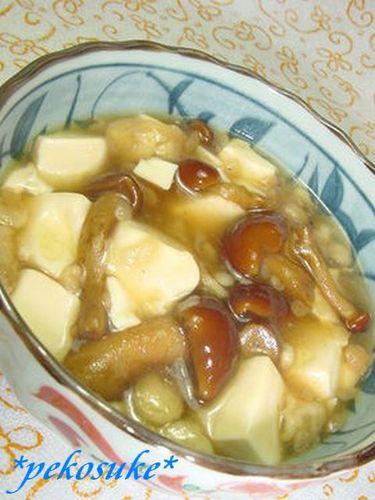 Nameko Mushroom Tofu