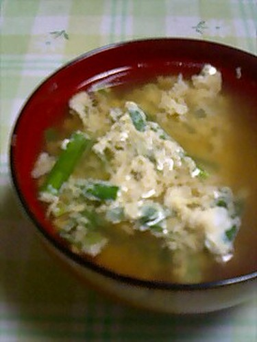 Clear Soup with Chinese Chives and Eggs