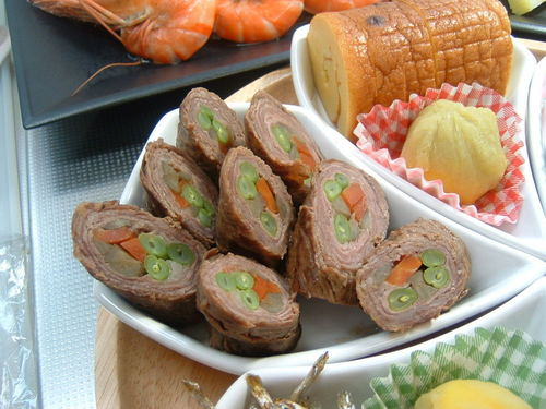 Colorful Meat Rolls For Osechi