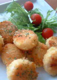 Scallops with Cheesy Panko