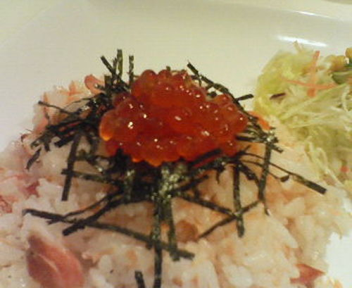 Café-Style Salmon and Salmon Roe Rice Bowl