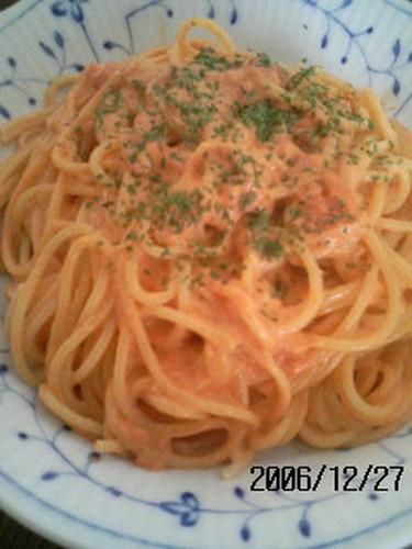 Easy Crab and Tomato Cream Spaghetti