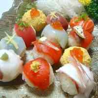 Simple Temari Sushi Using a Pack of Sashimi