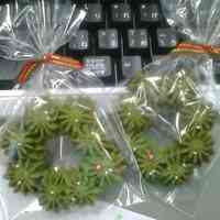 I Love Christmas! Wreath Cookies
