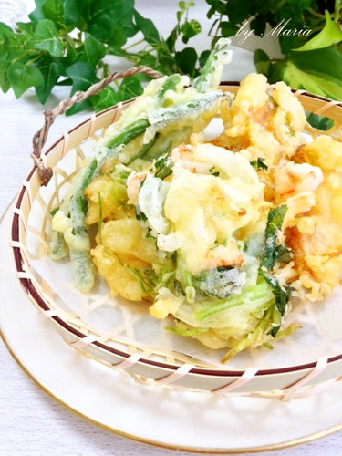 Luxurious & Simple! Tempura & Kakiage Fritters