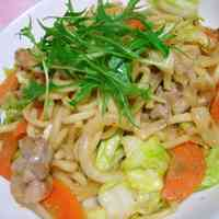 Stir-Fried Udon Noodles with Miso Sauce