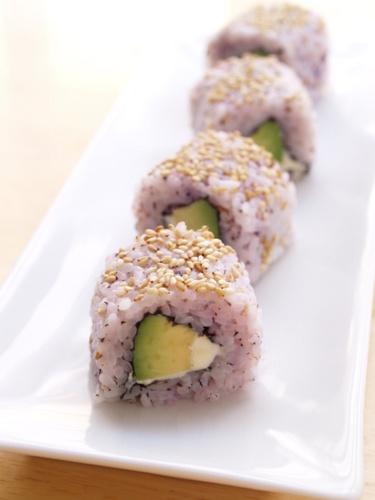 Creamy Cheese and Avocado Yukari Rolls