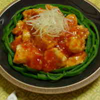 Silky Chicken Breast with Chili Sauce