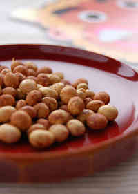 Roasted Soy Beans with Soy Sauce
