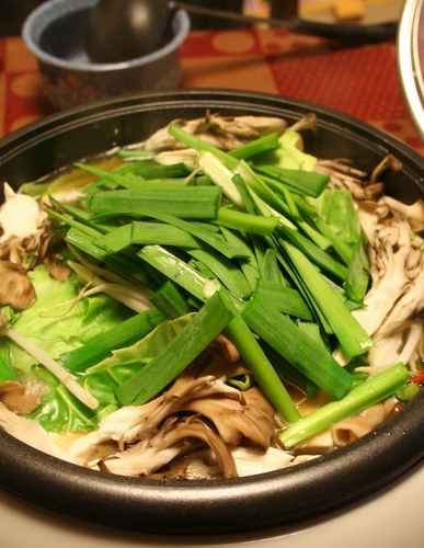 A Famous Hakata Speciality - The Soup is Yummy!  Motsu Nabe (offal hotpot)