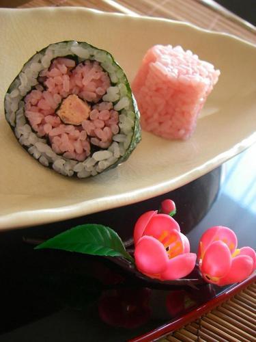 Plum Blossom Sushi Rolls