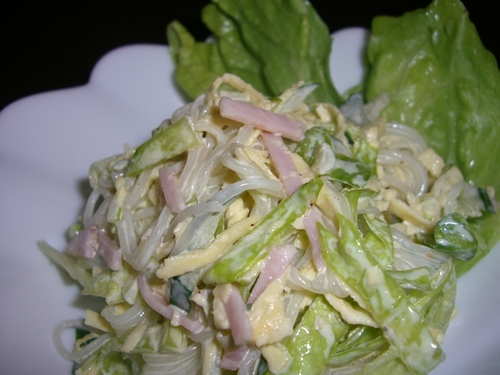 Cellophane Noodles and Lettuce Salad with Mayonnaise