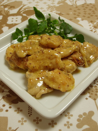 Sautéed Chicken Breast with Mustard Miso Sauce