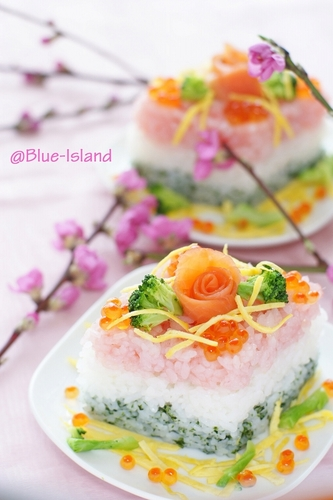 Diamond Shaped Doll Festival Sushi