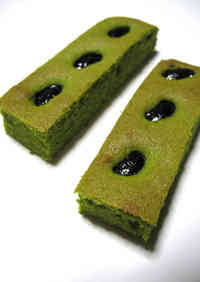 Matcha Cake Sticks