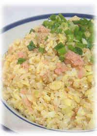 Salmon, Leek, and Green Onion Fried Rice