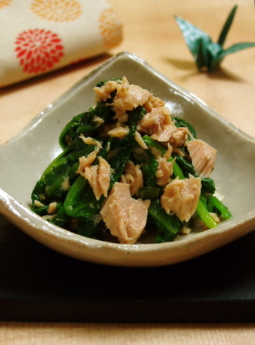 Two Kinds Of Spinach Salad (Japanese Style)
