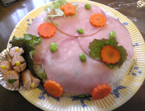 Festive Ham Sushi for Girl's Day