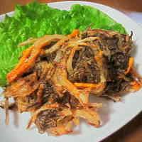 Mozuku Seaweed Kakiage Fritters