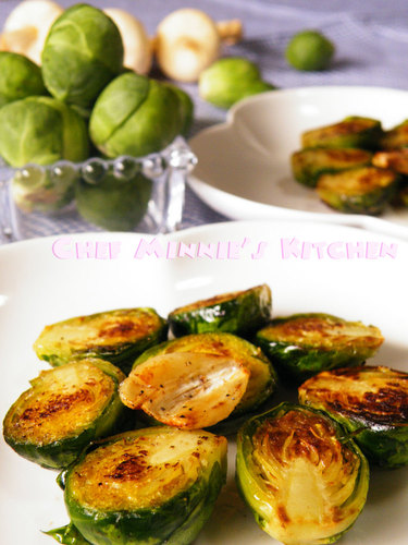 Butter Grilled Brussels Sprouts