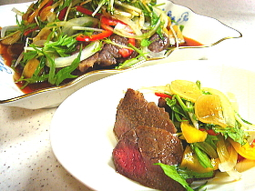 Steak With Lots of Vegetables- Wasabi Garlic Sauce