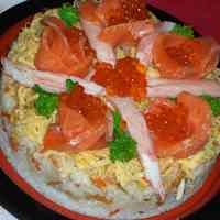 Decorated Chirashi Sushi