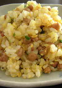 Fluffy Natto Fried Rice