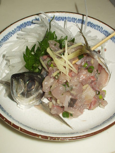 Basic Minced Horse Mackerel (How to Filet and Cut Up the Fish)
