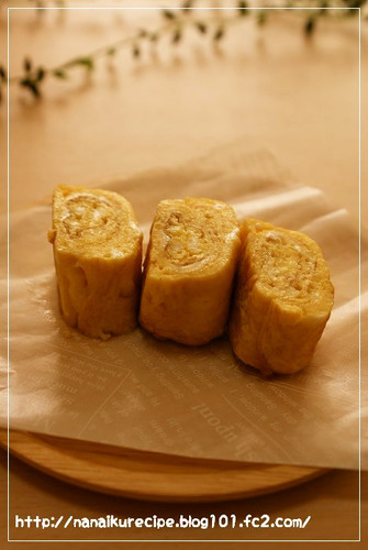 Sweet Tamagoyaki Rolled Omelette with Dashi