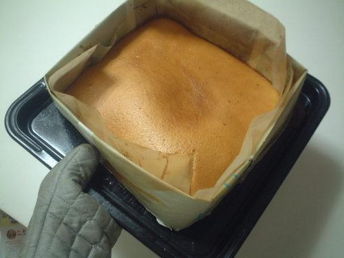 Castella Cake in a Newspaper Mold
