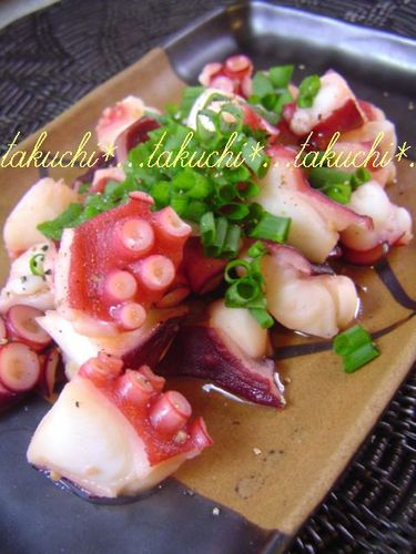 Octopus with Garlic, Butter and Ponzu Sauce