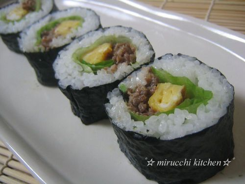 Everyone Loves This! Mayonnaise Soboro Sushi Rolls